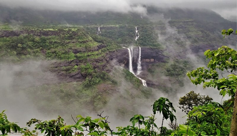 Kataldhar Waterfall as seen enroute to Udhewadi