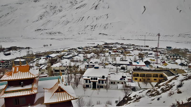 Kaza Town in winters