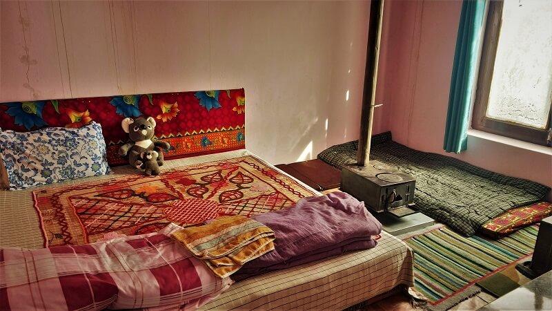 Kunphen Homestay room Kaza Spiti valley