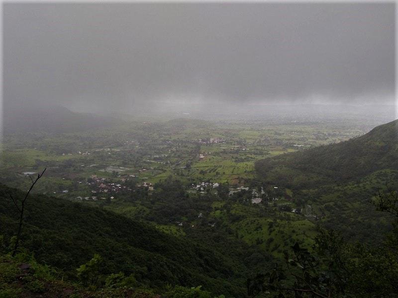 Landscape view at Purandar Fort