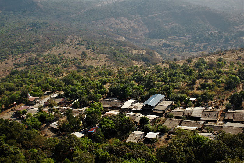 Lohagadwadi village as seen on Lohagad fort trek