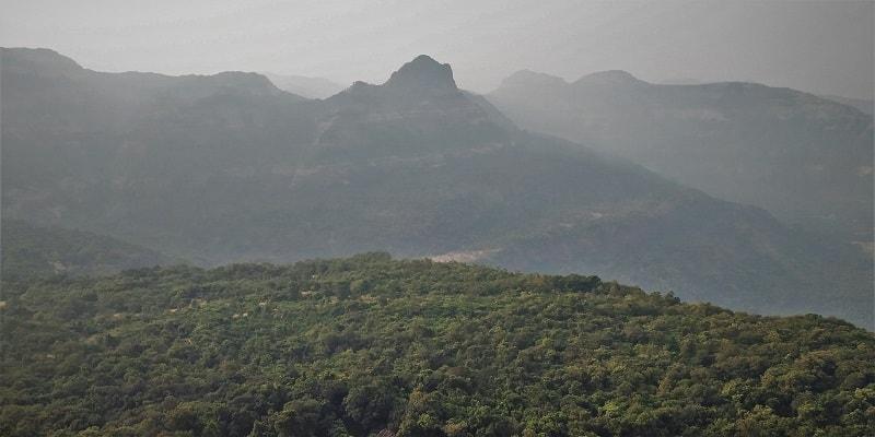 Lush green surroundings as seen on Dhak Bahiri Cave trek