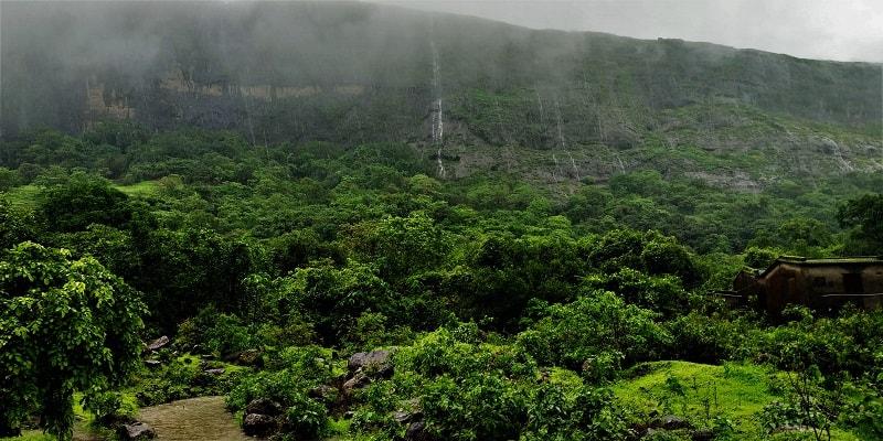 Lush green surroundings as seen on Rajmachi Fort trek