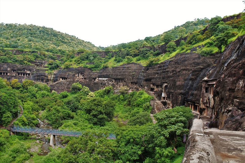 Lush green surroundings at Ajanta Caves Aurangabad