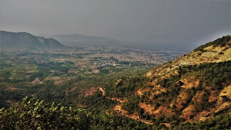 Lush green valleys as seen on Kalavantin Durg Trek