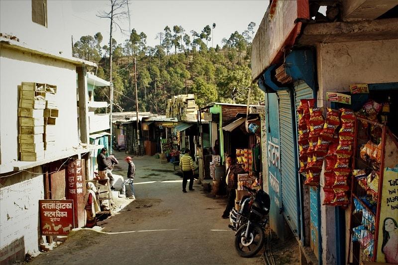 Market at Gwaldam Uttrakhand