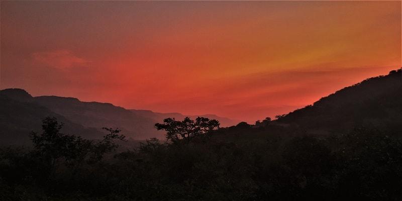 Morning hues as seen on Dhak Bahiri Cave trek