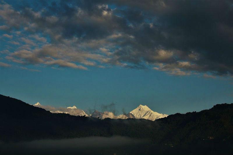 Mt Kanchenjunga as seen from Gangtok Sikkim