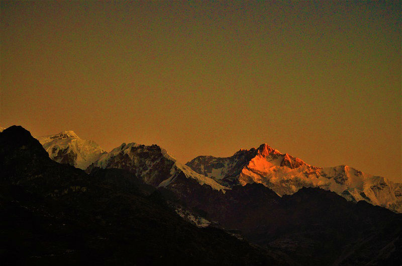 Mt Kanchenjunga from Pelling Sikkim