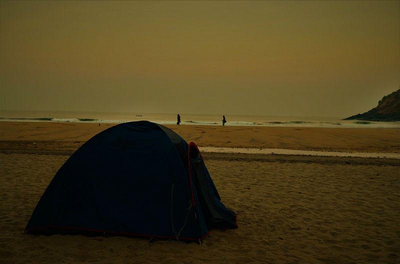 My tent at Gokarna Karnataka