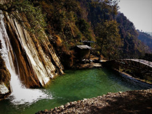 Neer garh Waterfall view Rishikesh Uttrakhand