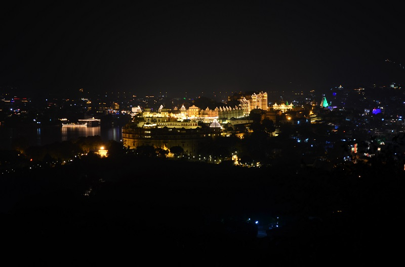 Night scenes from Karni Mata Temple Udaipur city