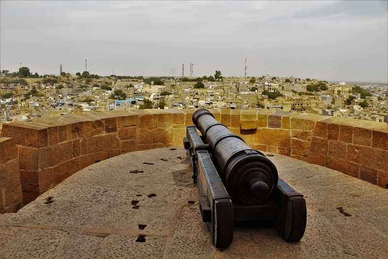 Old canon Jaisalmer city view