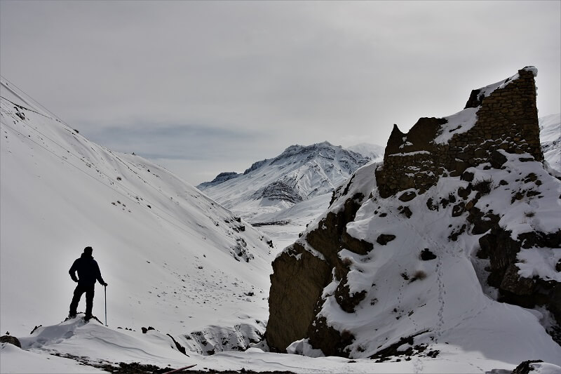 Onacheaptrip at Spiti Valley in winters