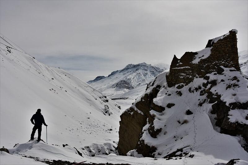 Onacheaptrip at Spiti Valley in winters