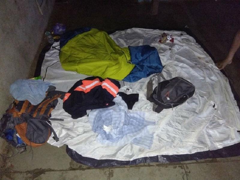 Our stuff Torna Fort Trek