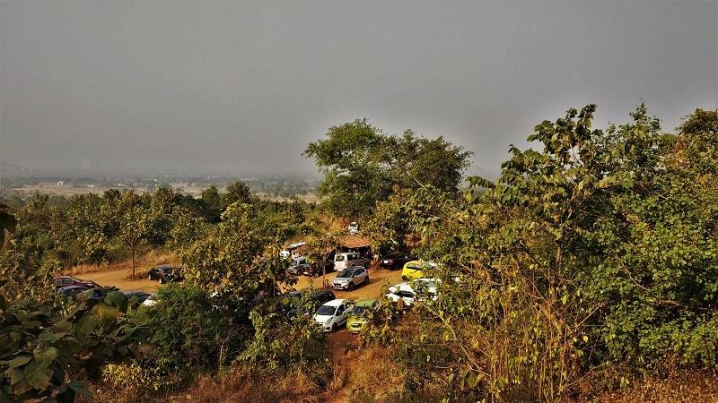 Parking at Kalavantin Durg Trek