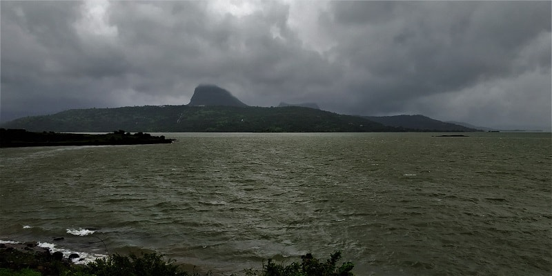 Pawna lake with Tung fort in vicinity