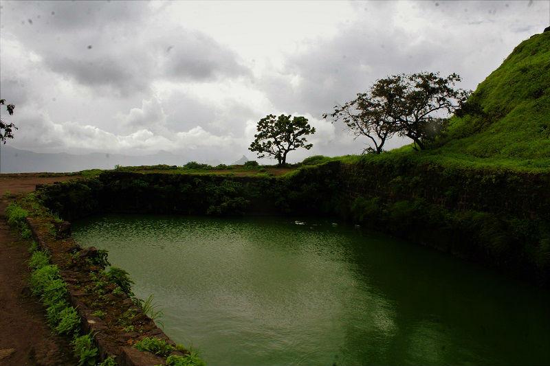 Pond at Tikona Fort
