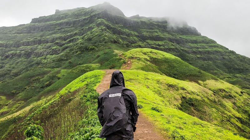 Raining at Torna Fort trek