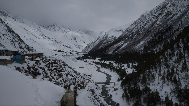 River flowing at Chitkul