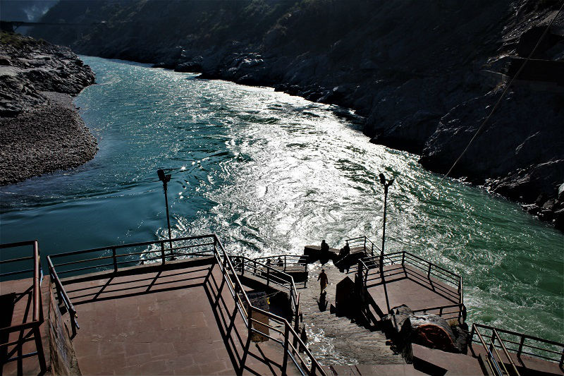 Sangam of Alaknanda and Bhagirathi to form Ganga