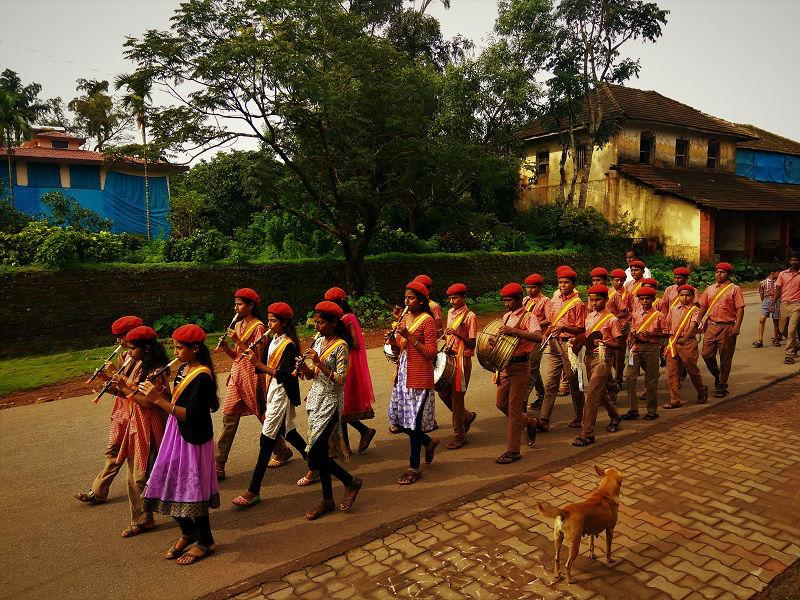 School parade Dodda Mane Agumbe