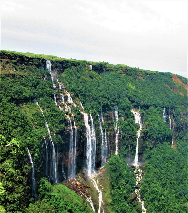 Seven Sisters Waterfall cherrapunji wettest place on earth