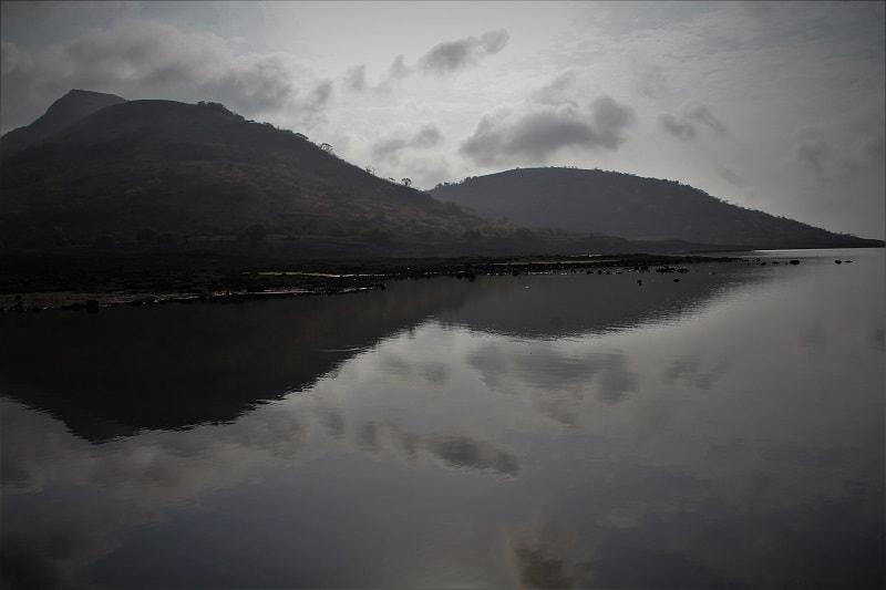 Shirota lake on Rajmachi Fort trek route