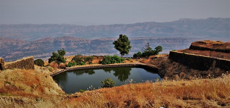 Small water body as seen on Rajgad Fort Trek