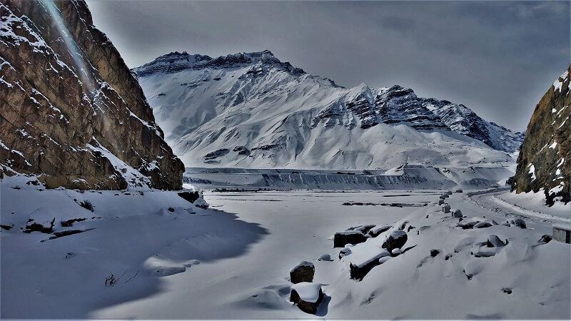 Snowy roads in Spiti District