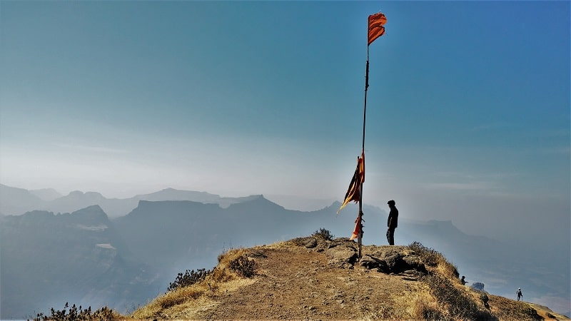 Standing at Taramati peak on Harishchandragad Fort Trek