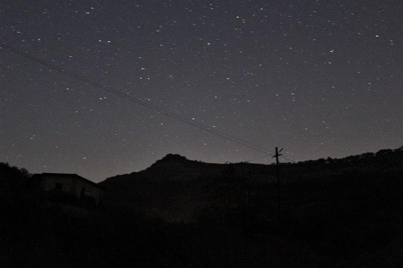 Stars as seen from Kondeshwar temple Dhak Bahiri Cave trek