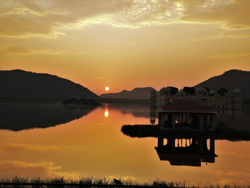 Sunrise at Jal Mahal must see places in Jaipur