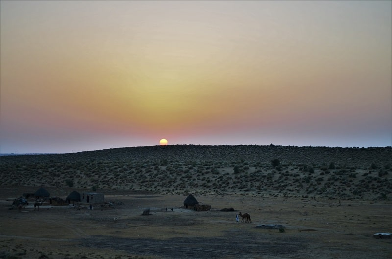 Sunrise at Sam Sand Dunes Jaisalmer