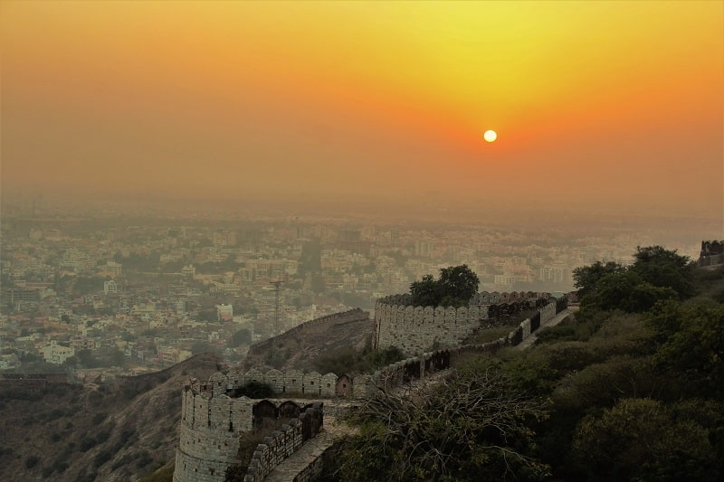 Sunset from Nahargarh Fort must see places in Jaipur