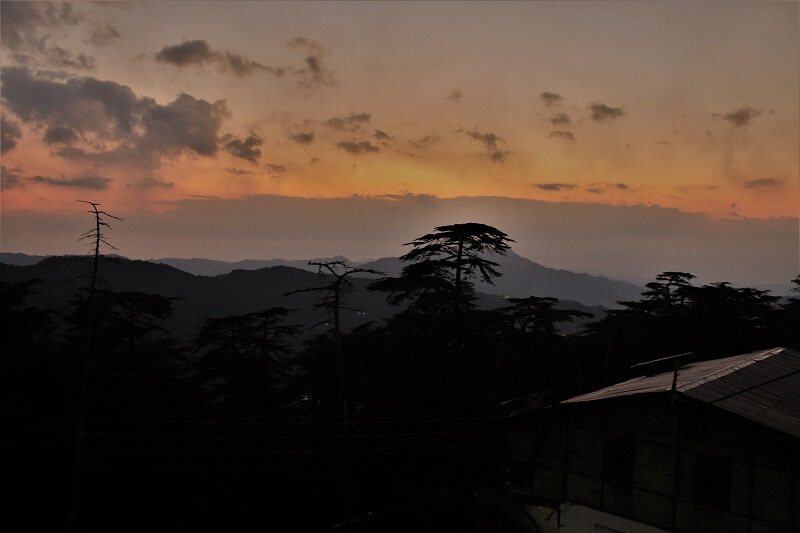 Sunset hues at Chail