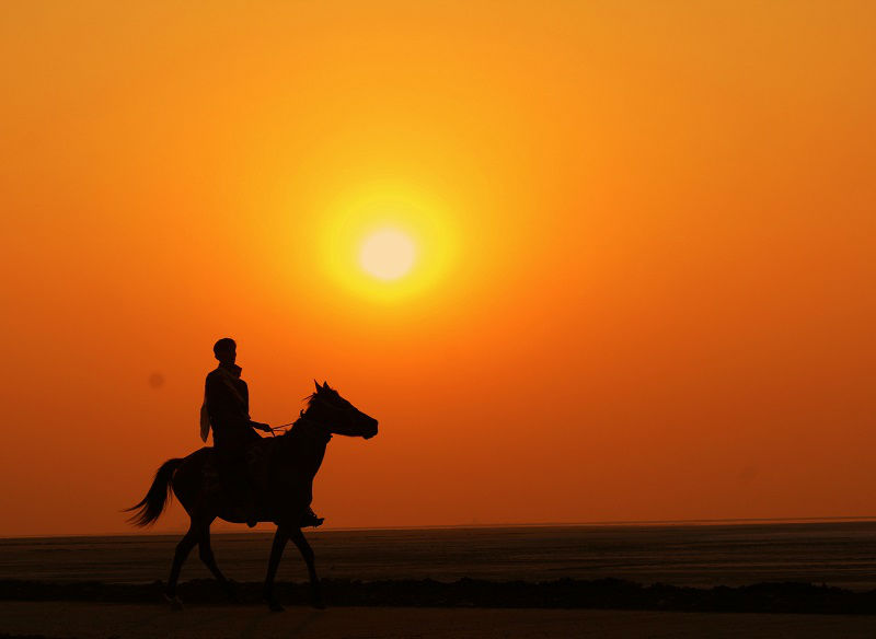 Sunset rann of kutch gujarat