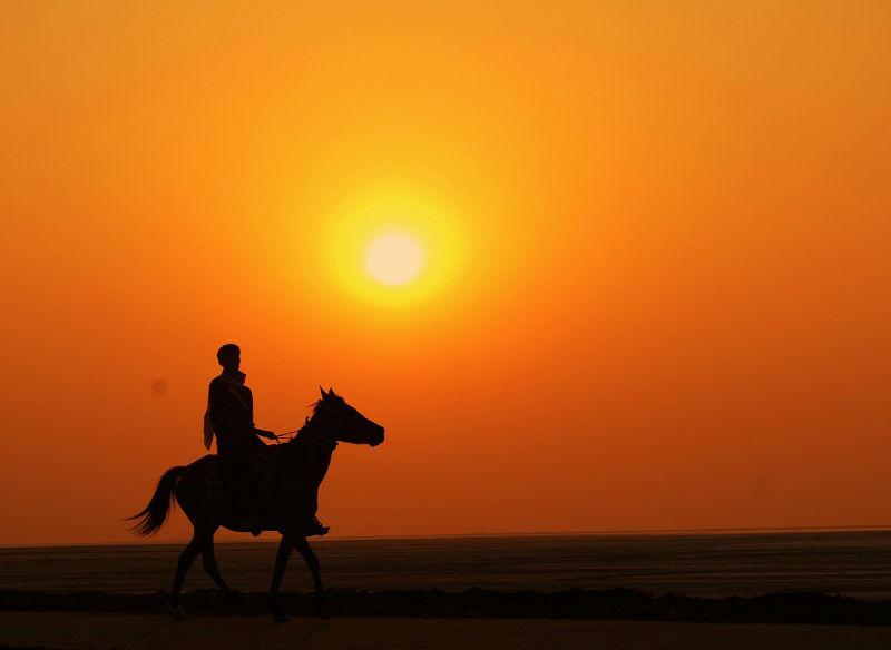 Sunset rann of kutch gujarat