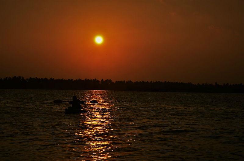 Sunset scene at Puducherry