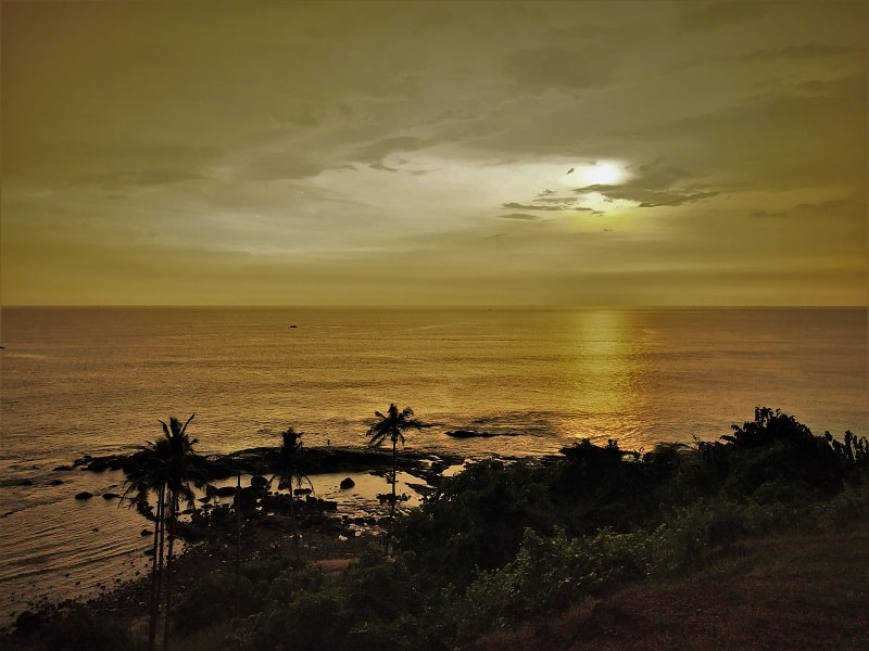 Sunset scenes from Anjuna beach Hill