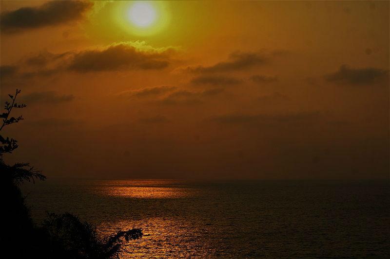 Sunset view at Gokarna beach Karnataka
