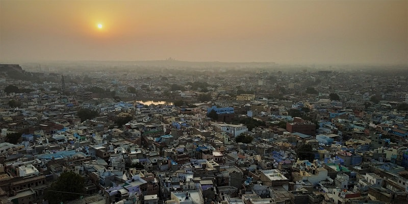 Sunsrise view from Mehrangarh Fort Parking