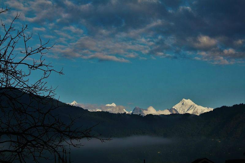 Breathtaking view of Kanchenjunga from Gangtok Sikkim