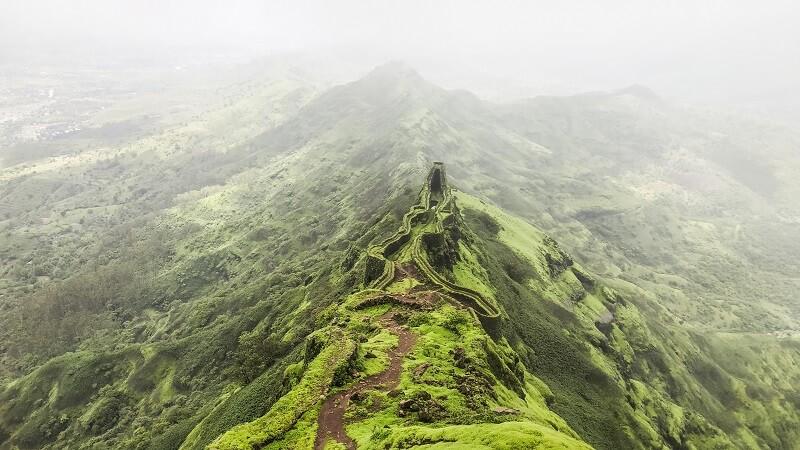Torna Fort Trek near Pune