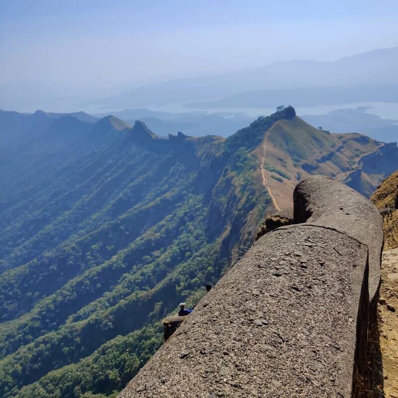 View From Balekila Rajgad Fort