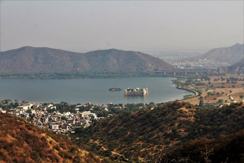 View from Charan Mandir Jaipur