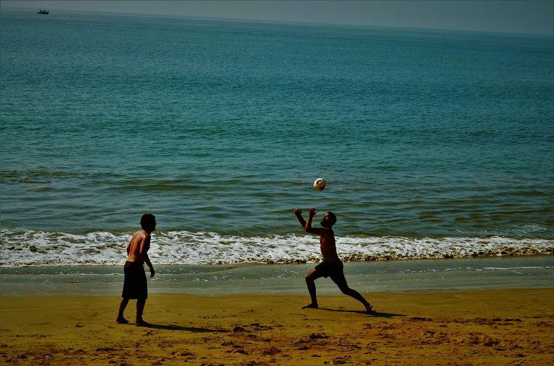 Volleyball game at Paradise beach Gokarna Karnataka