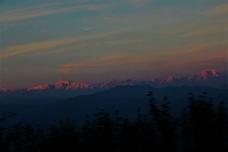 amazing Himalaya as seen from Pauri Uttarakhand