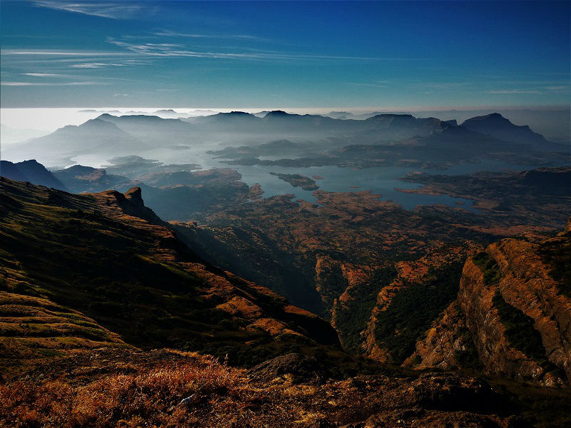 amazing landscape view Kalsubai highest peak of Maharashtra